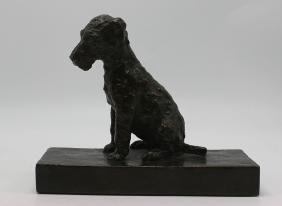 L.B. Parsons Bronze Terrier Signed