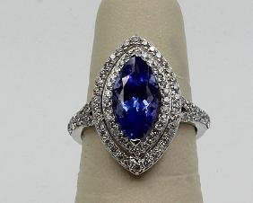 18Kt WG 2.66ct. Tanzanite & 0.97ct. Diamond Ring