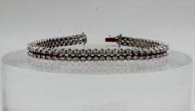 18Kt WG 2.00ct. Diamond Double Row Tennis Bracelet
