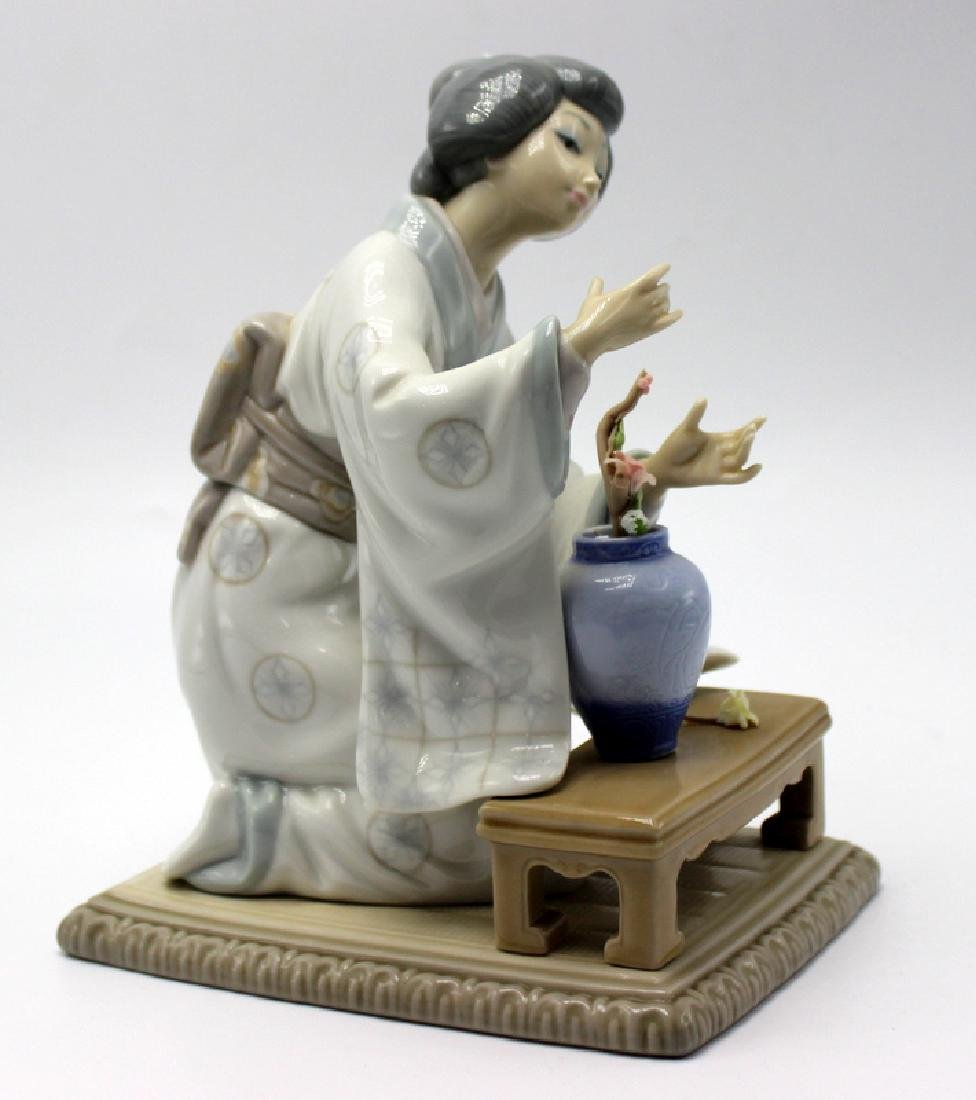 Lladro Geisha Girl Arranging Flowers - 2