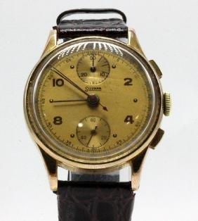 Vintage Mens Silvana Gold Capped Chronograph