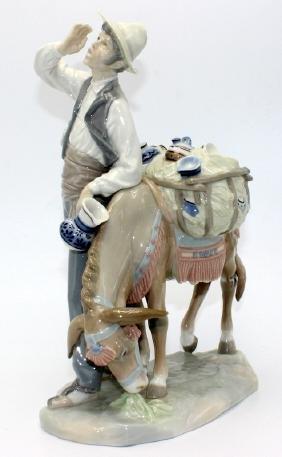 """Lladro """"Peddlar & His Donkey"""""""