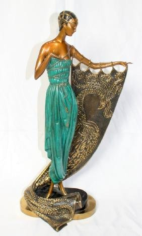 """Erté """"Emerald Night"""" 1989 Bronze Sculpture"""