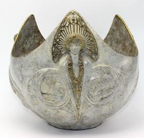 """Erté """"Trois Femme"""" Bronze Bowl"""