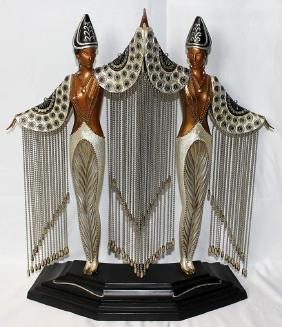 """Erté """"Les Bijoux de Perles"""" Bronze Figure"""