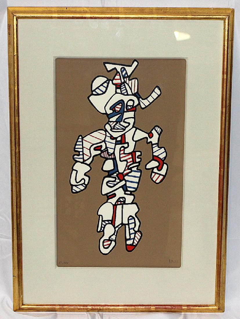 Jean Dubuffet (French, b.1901-1985) Abstract Lithograph