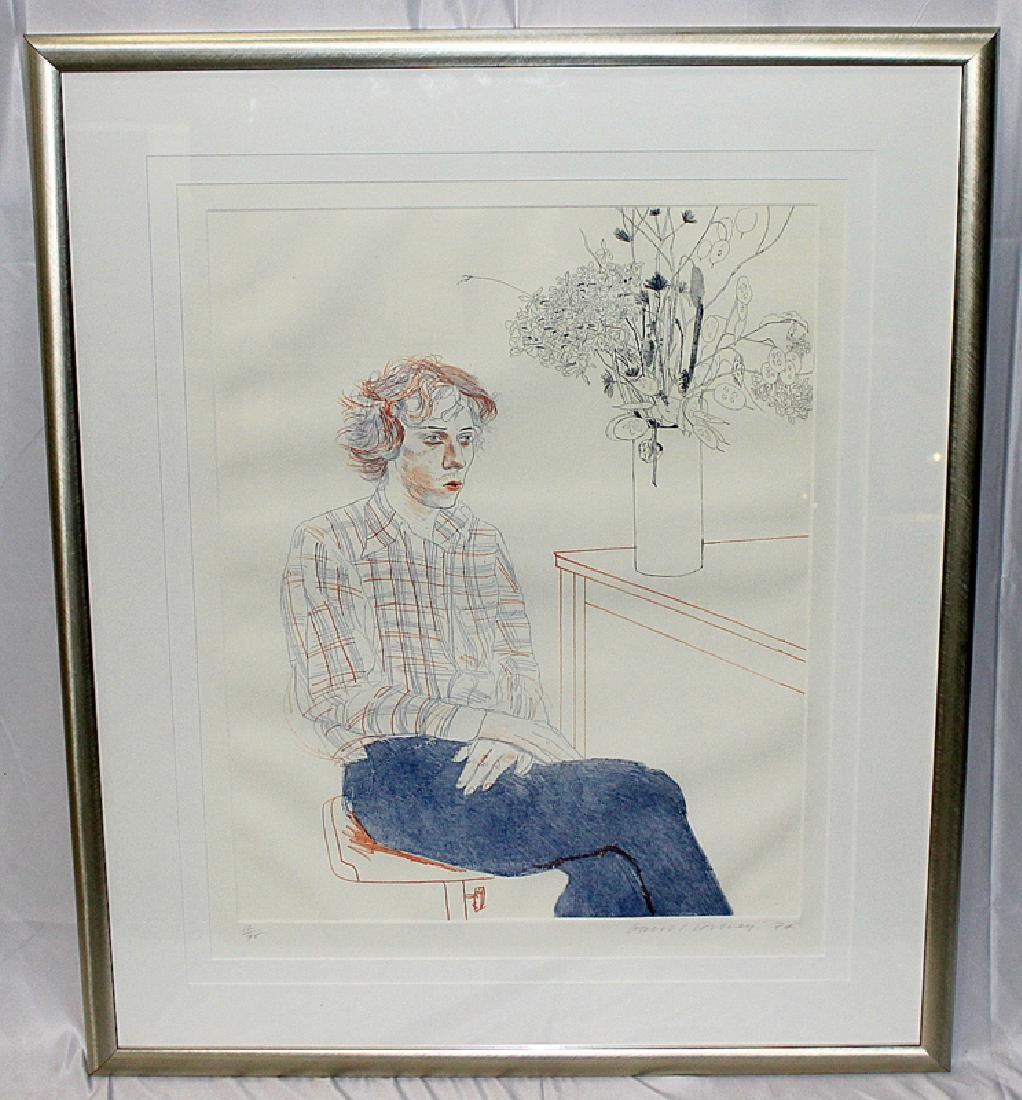 "David Hockney (English, b.1937-) ""Gregory"" Colored"