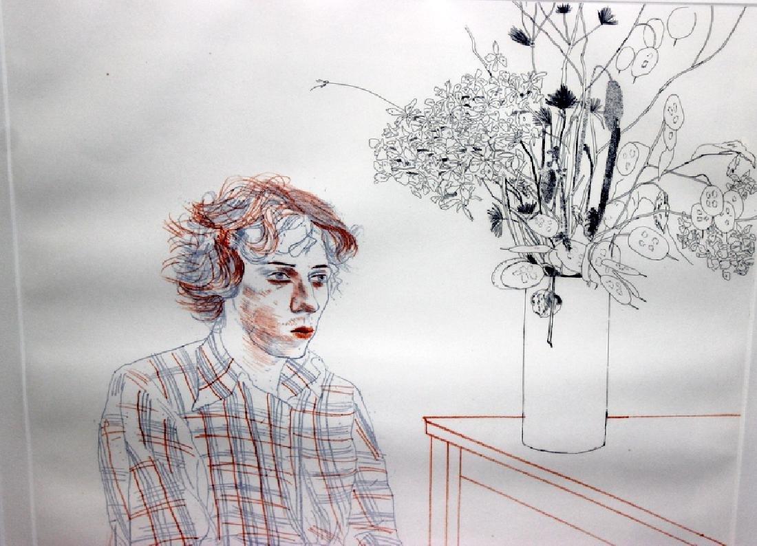 "David Hockney (English, b.1937-) ""Gregory"" Colored - 2"