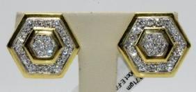 18Kt YG 3.00ct. Diamond Earrings