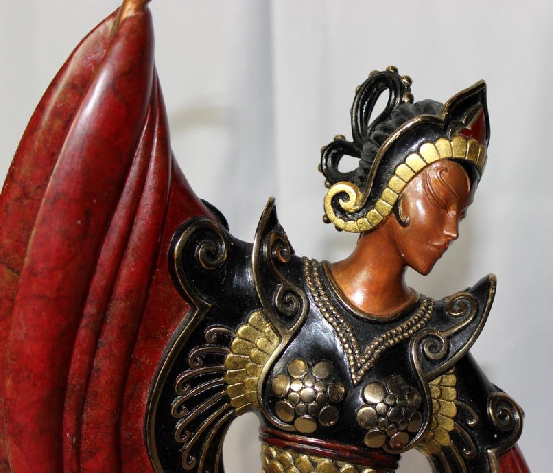 """Erté """"Chinese Legend"""" Bronze Sculpture Signed & - 2"""