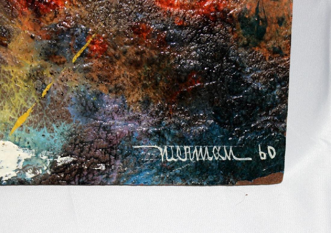 Leonardo Nierman Oil on Board Signed & Dated 1960 - 3