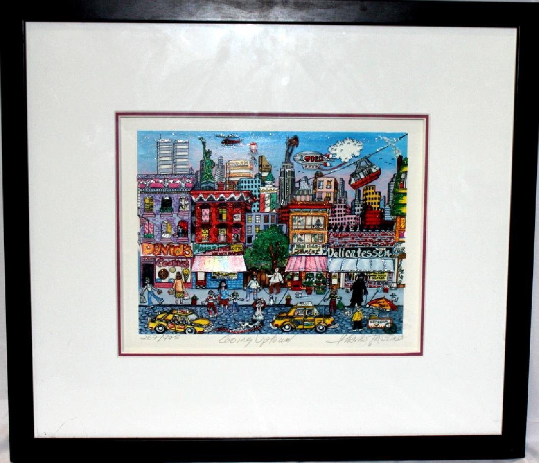 "Charles Fazzino ""Going Uptown"" Pencil Signed & Dated"