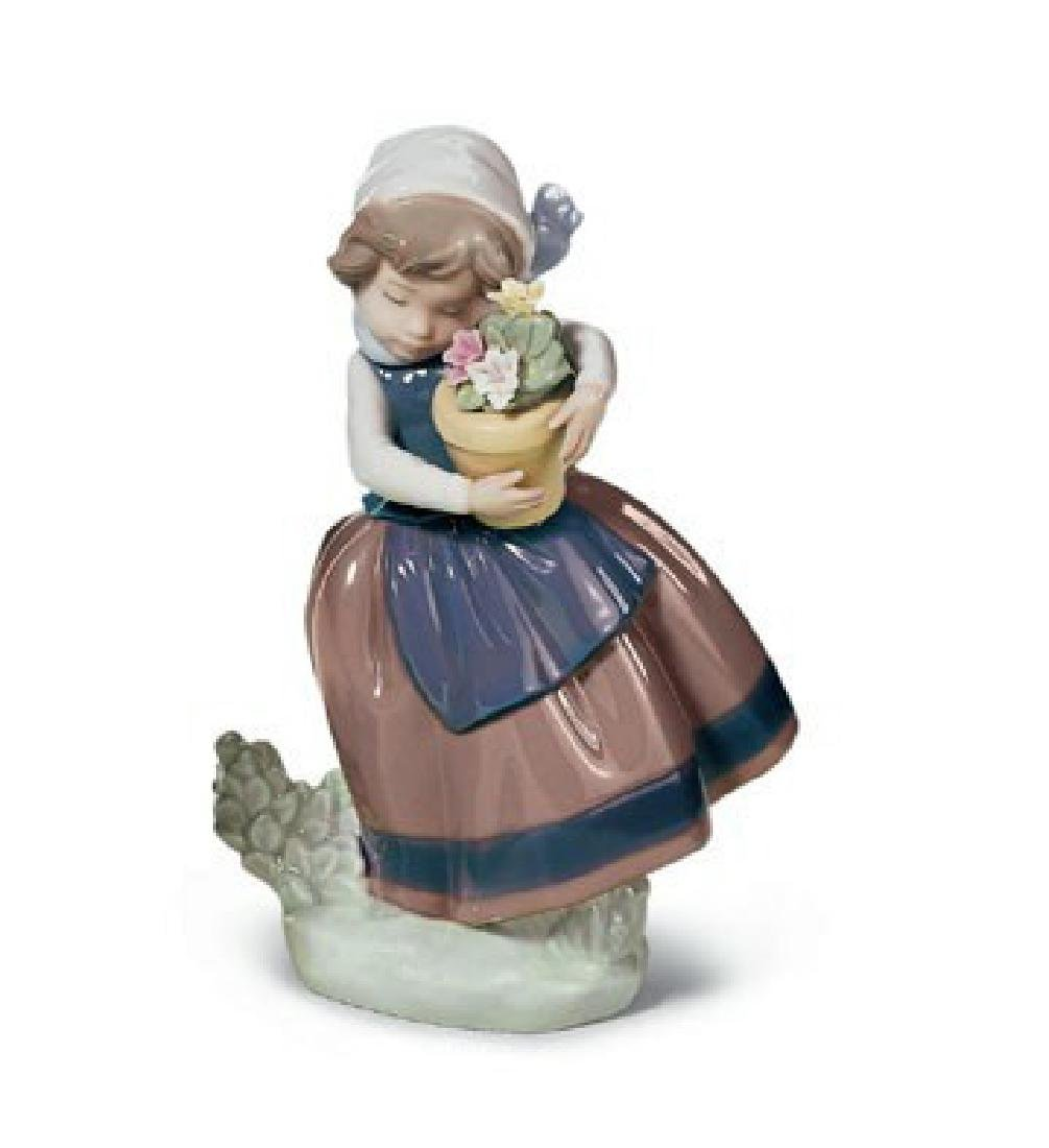 "Lladro ""Spring is Here"" Porcelain Figure #5223"