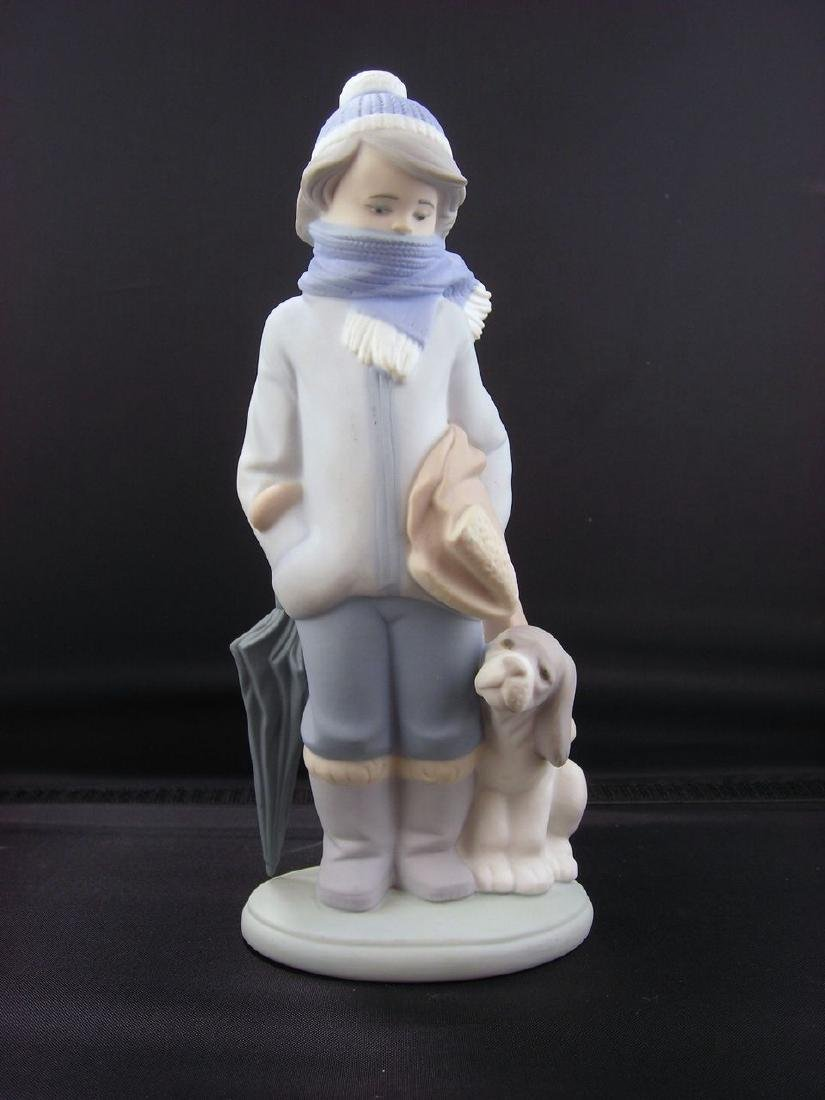 "Lladro ""Winter"" Porcelain Figure #5220"