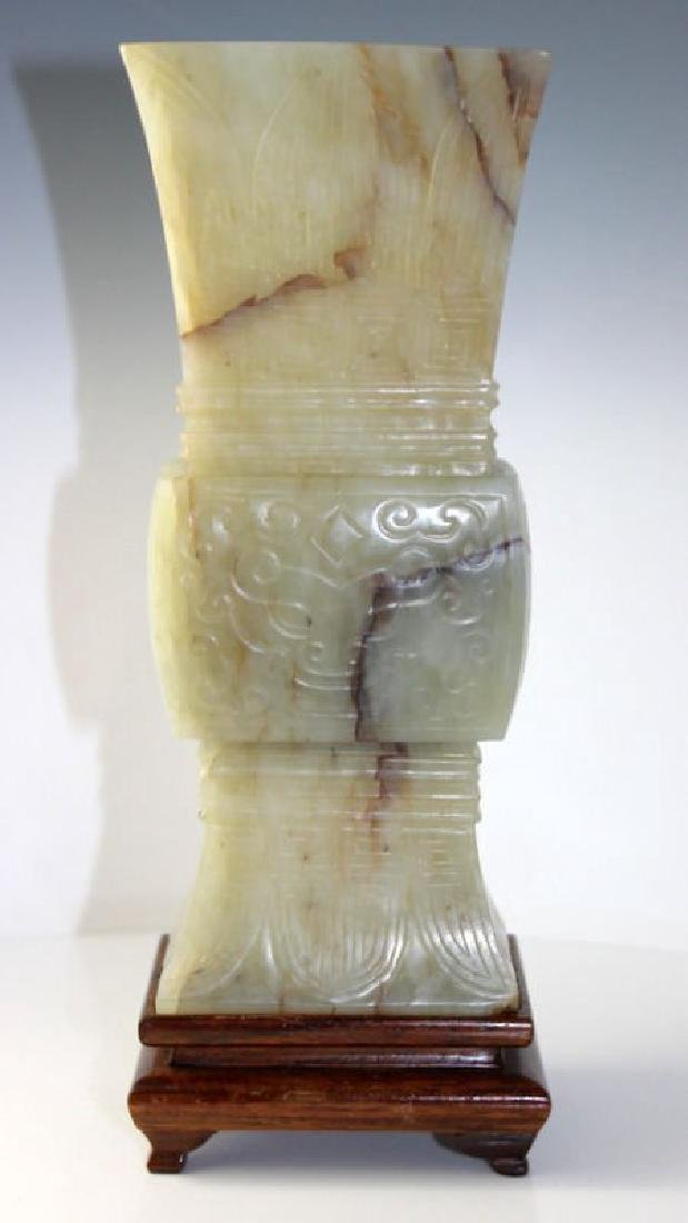 Late 19th Century Chinese Grey-Green Nephrite Jade