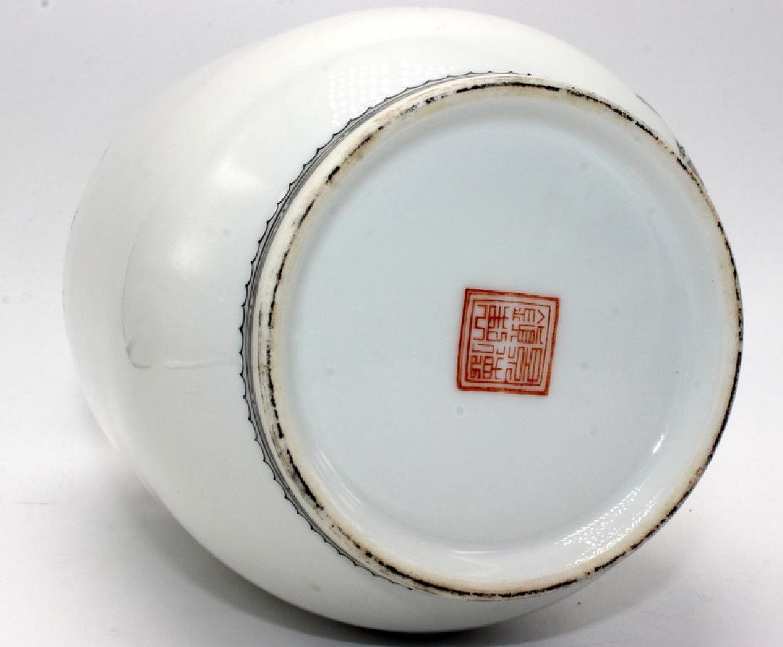 Chinese Handpainted Republic Period Vase - 4