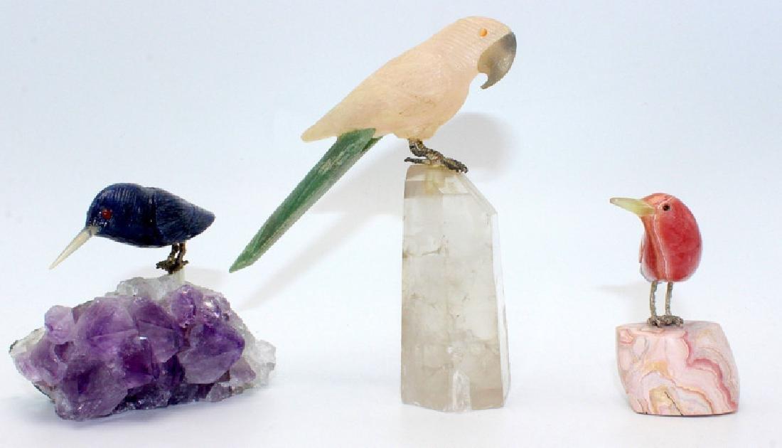 3 Quartz Bird Models
