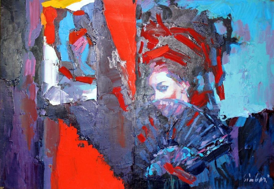 Nicola Simbari (Italian, b.1927-2012) Oil on Canvas