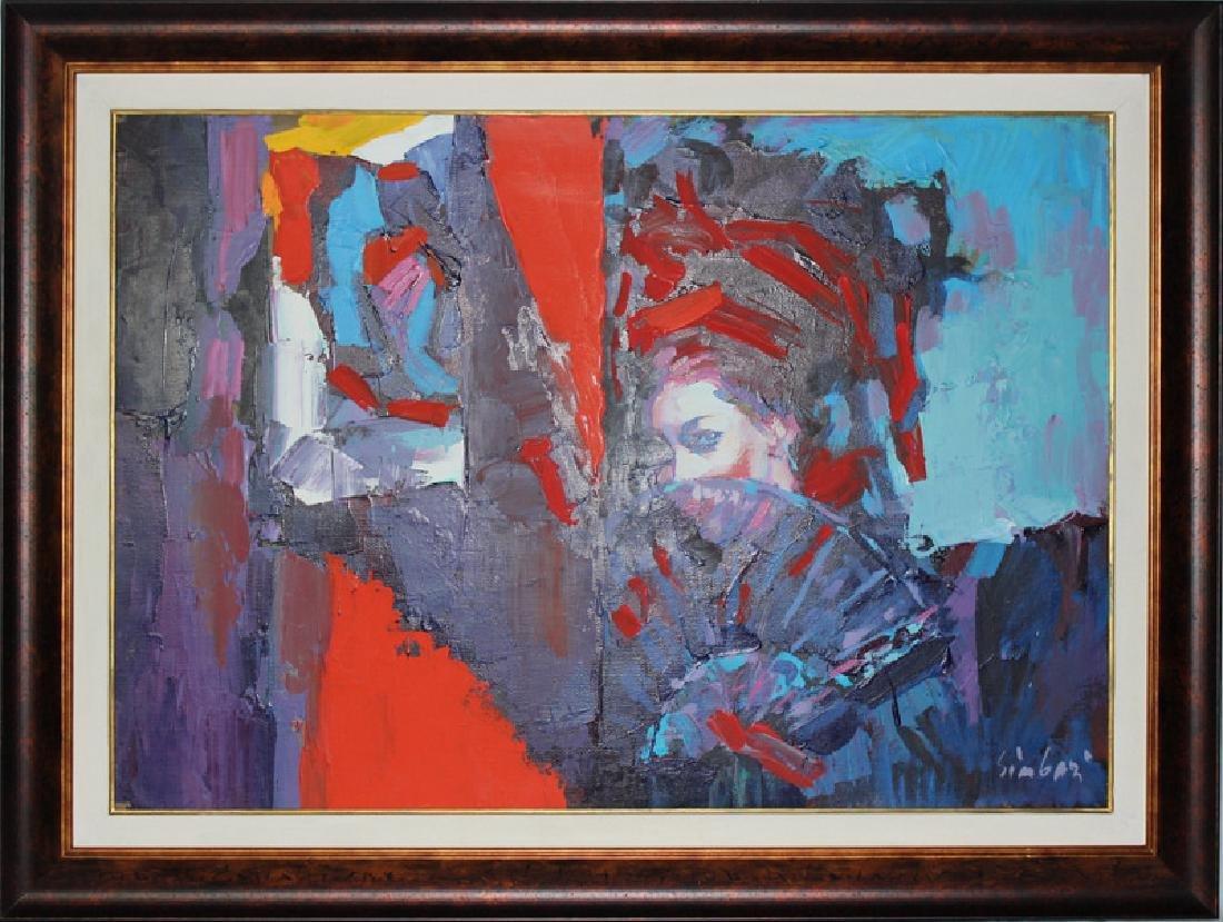 Nicola Simbari (Italian, b.1927-2012) Oil on Canvas - 2