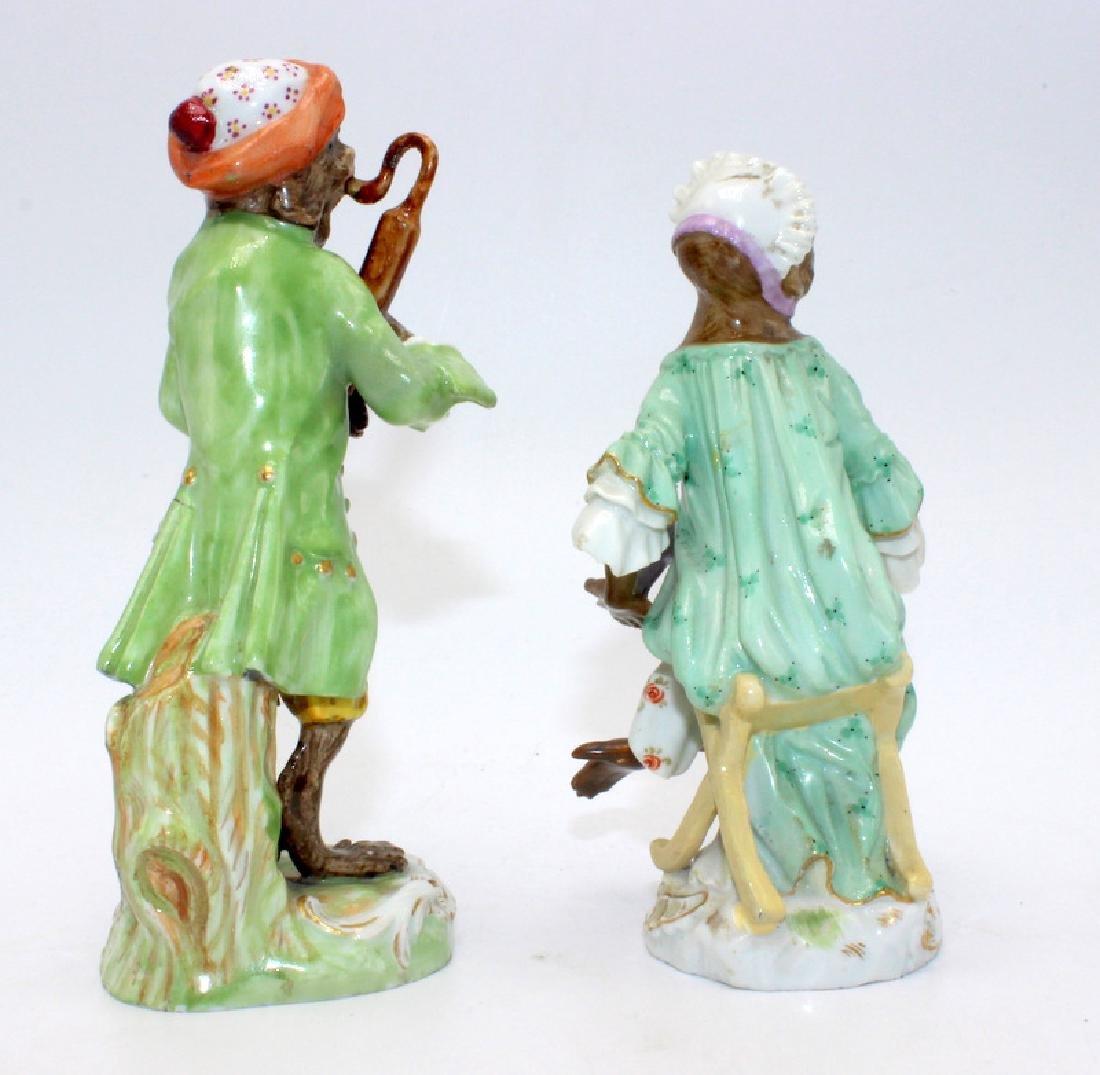 Meissen (2) 19th C. Monkey Band Figures - 3