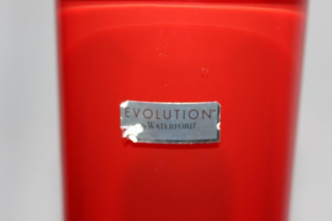 Evolution Waterford Red Flower Vase - 3