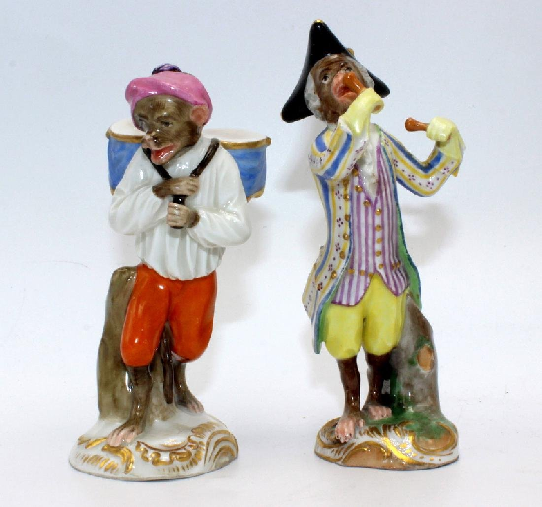 Vienna (6) Monkey Band Figures baring Pseudo Meissen - 2