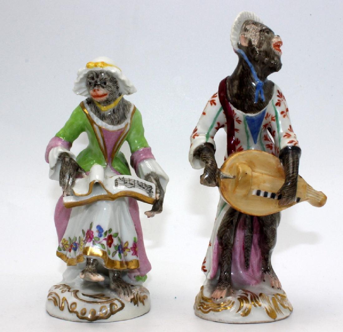 Vienna (6) Monkey Band Figures baring Pseudo Meissen - 4