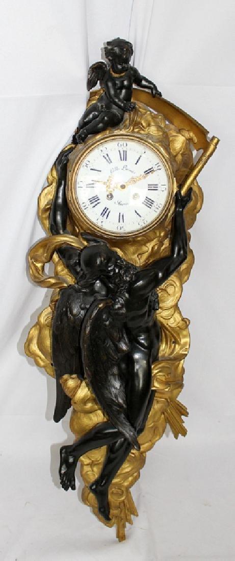 Gille L'Aine French Ormolu Striking Cartel Clock