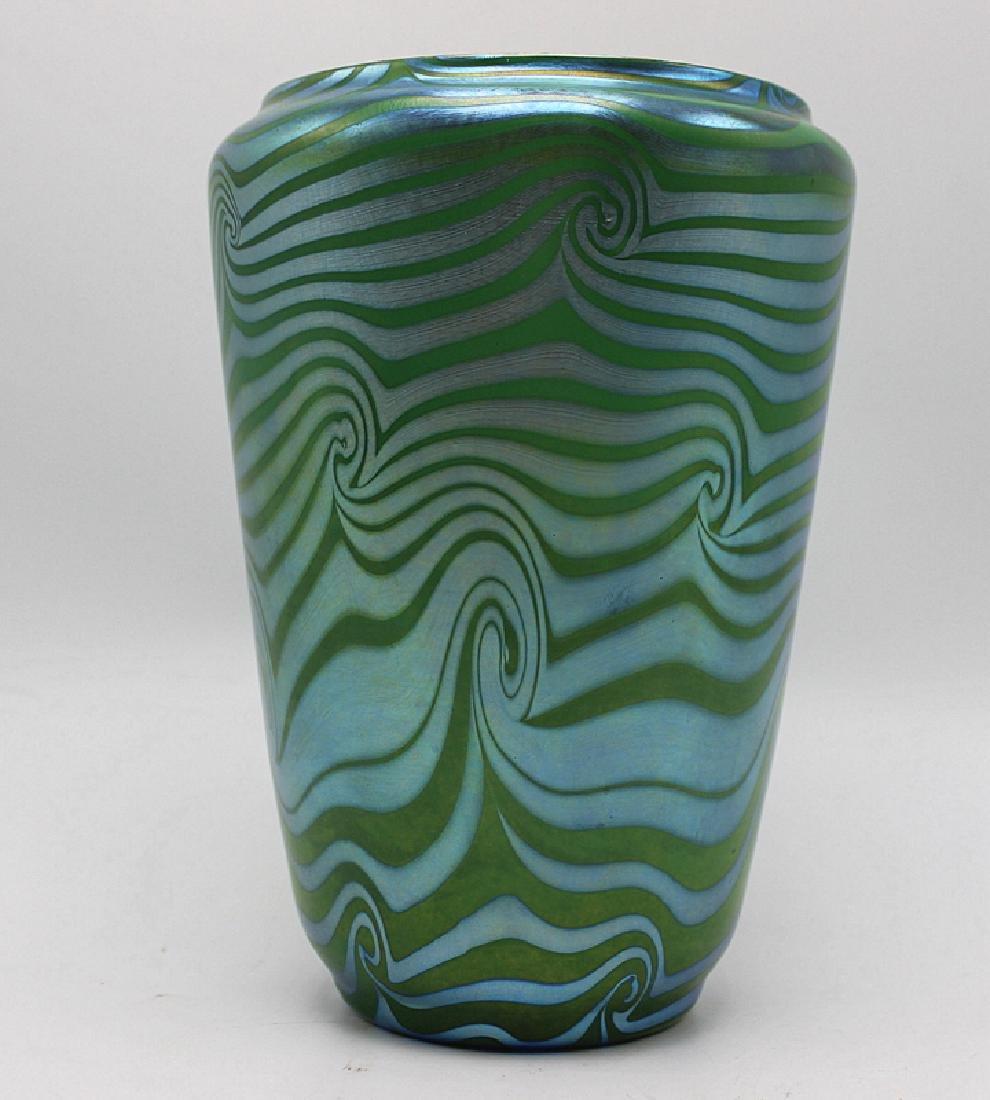 """Durand """"King Tut Coil"""" Iridescent Art Glass Vase"""
