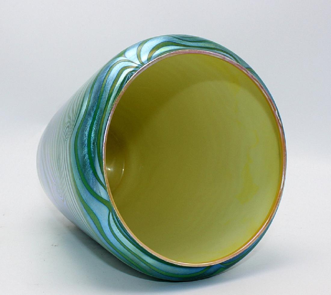 """Durand """"King Tut Coil"""" Iridescent Art Glass Vase - 2"""