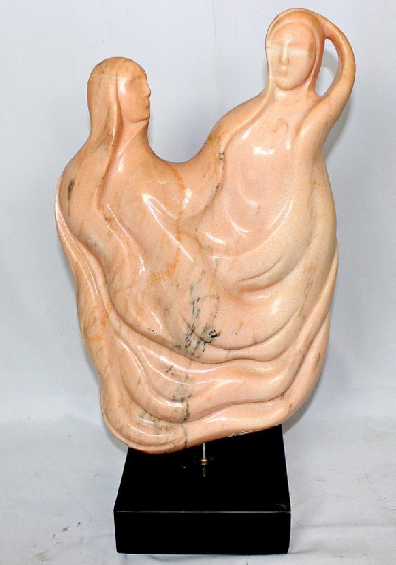 "Original Anthony Quinn ""Love"" Pink Marble Sculpture"