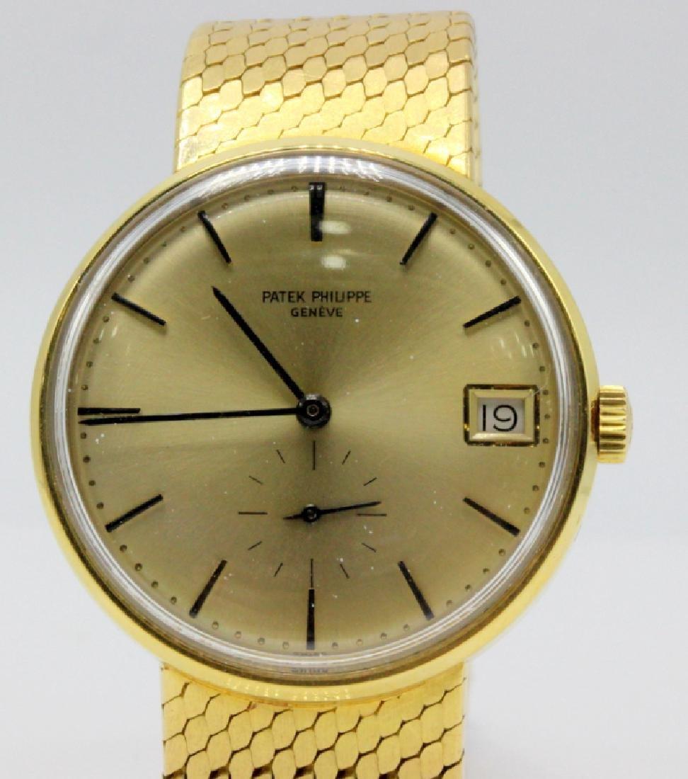 Patek Philippe 18Kt YG Mens Wristwatch on Original Band