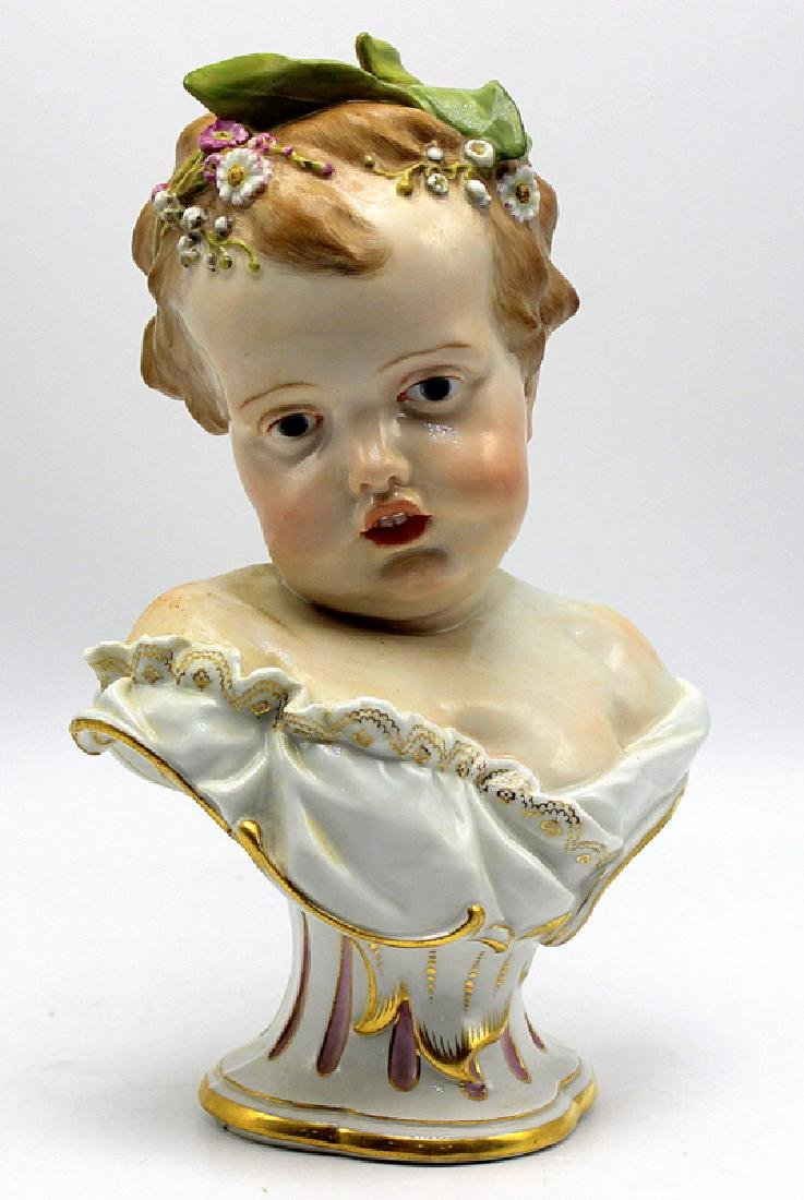 Meissen Bust of a Young Girl