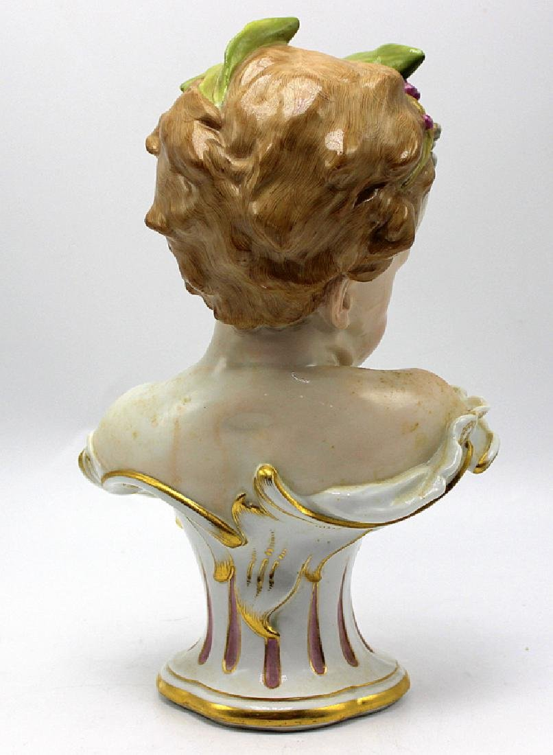 Meissen Bust of a Young Girl - 4