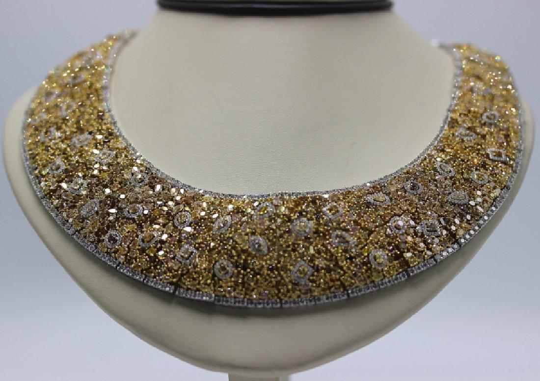 18Kt WG 98.34ct. Diamond Necklace