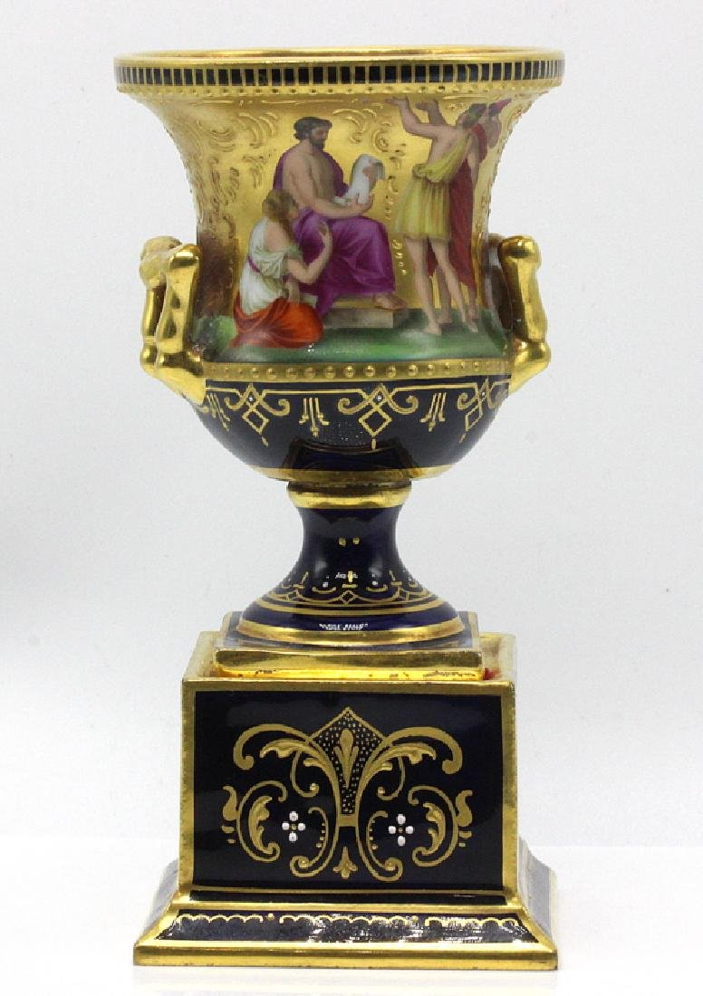 19th C. Vienna Campania Shaped Vase