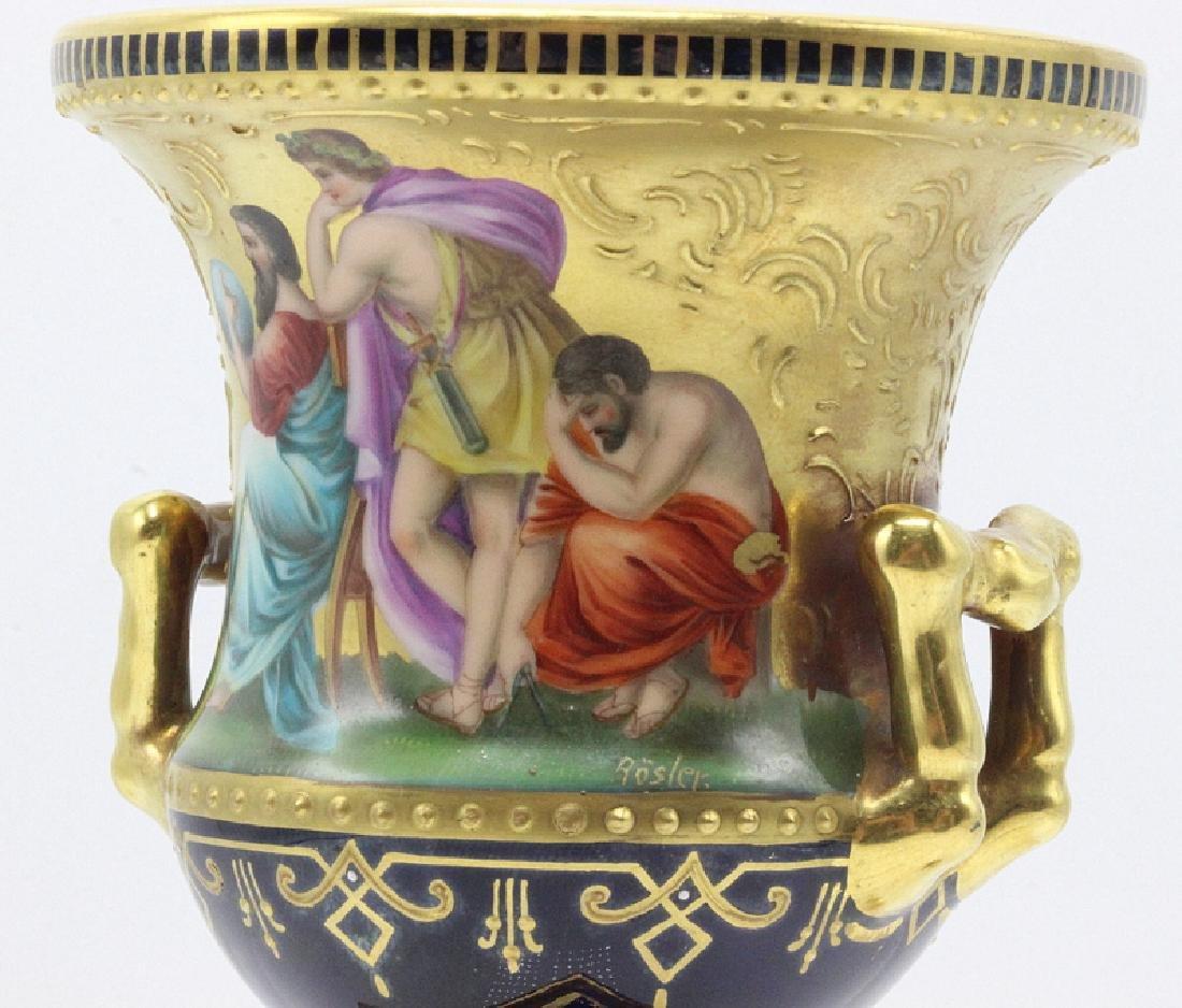 19th C. Vienna Campania Shaped Vase - 2