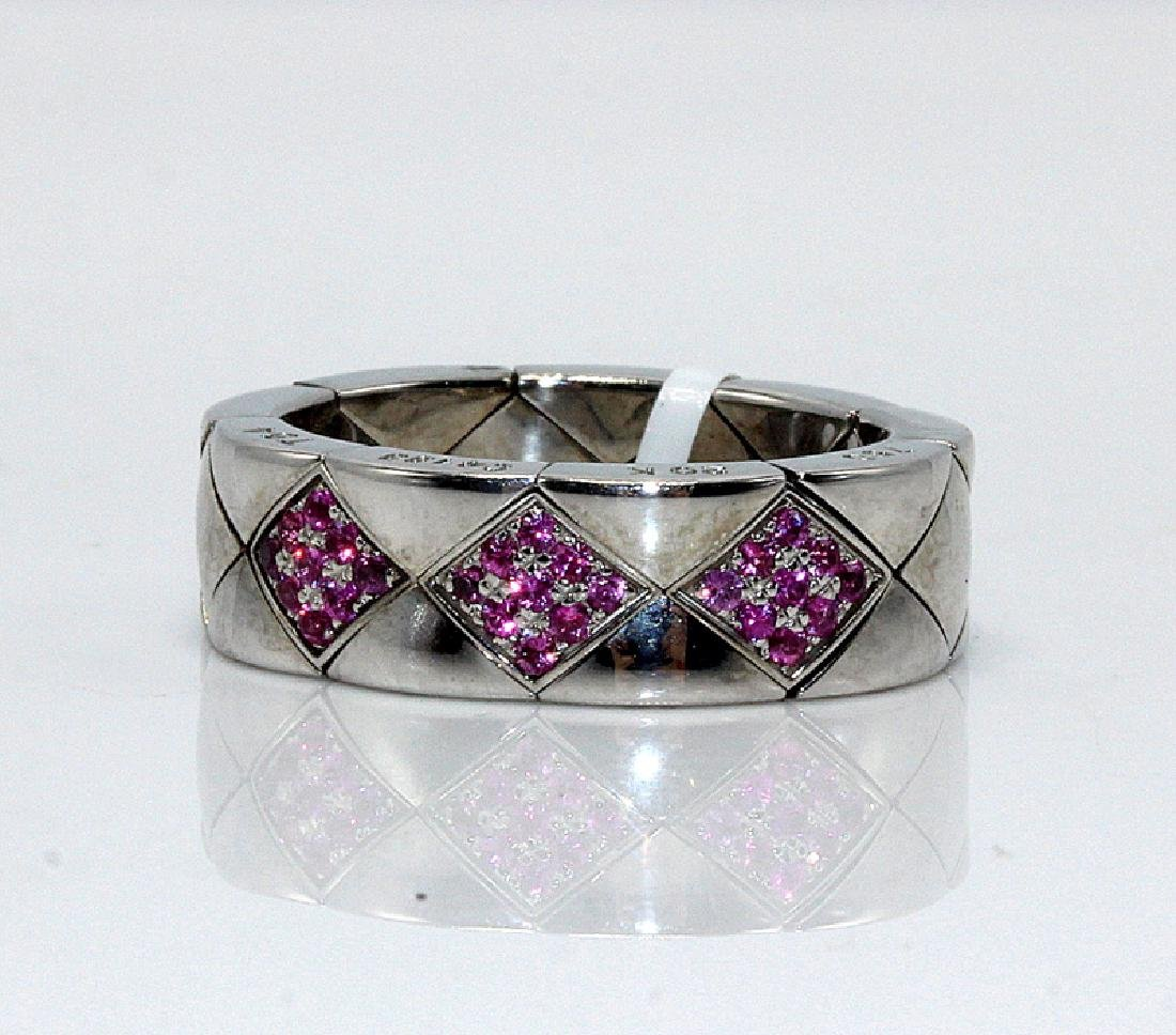 Chanel 18Kt WG Pink Sapphire Ring