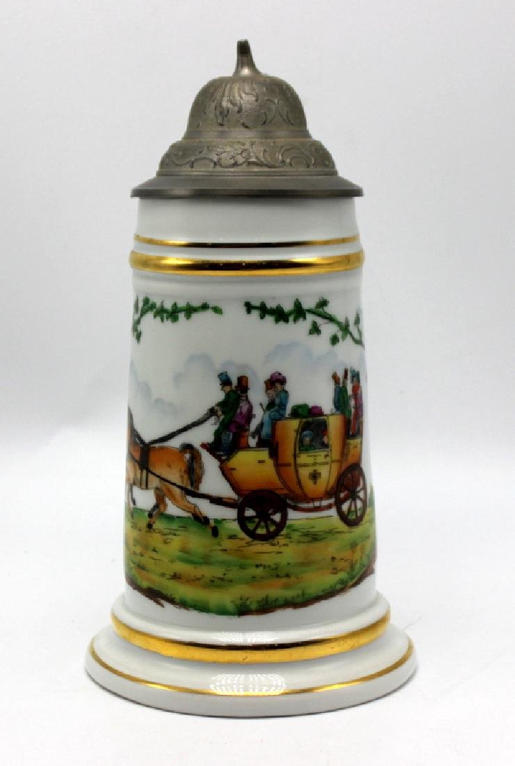 Vintage German Lithophane Beer Stein Decorated with a