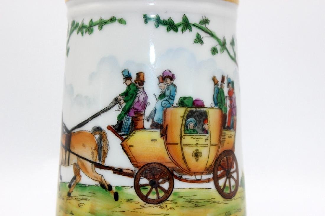 Vintage German Lithophane Beer Stein Decorated with a - 2
