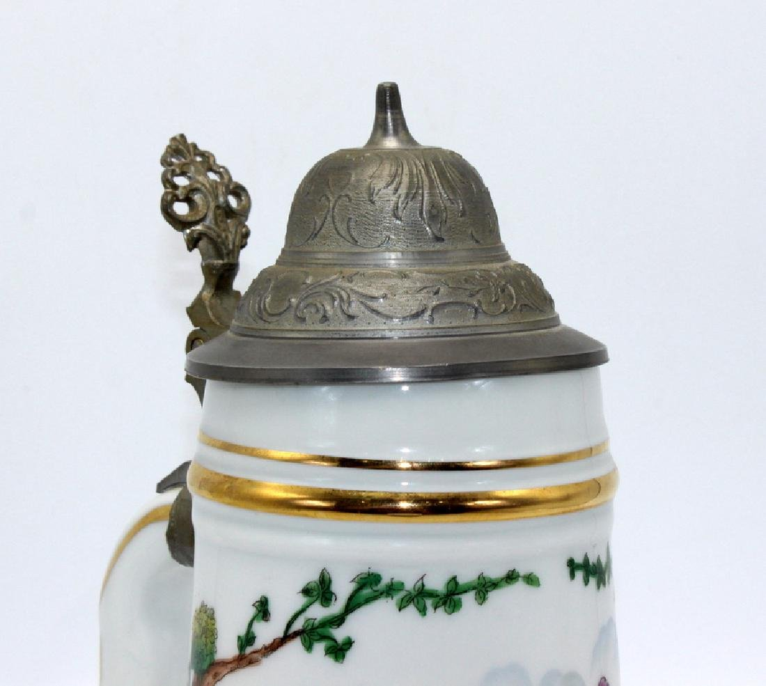 Vintage German Lithophane Beer Stein Decorated with a - 3