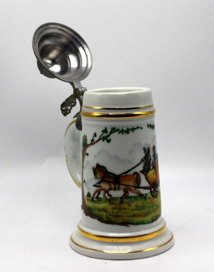 Vintage German Lithophane Beer Stein Decorated with a - 4