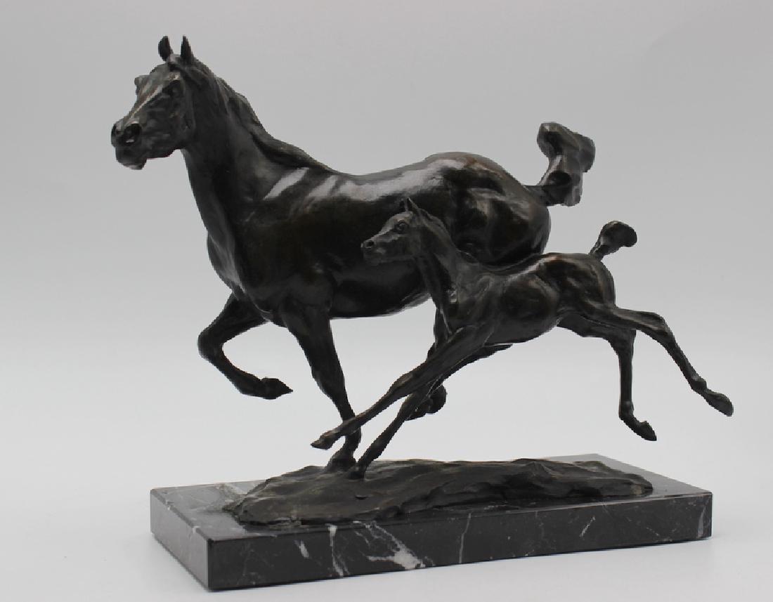 "After T.D. Kelsey ""Mother & Foal"" Bronze Restrike"