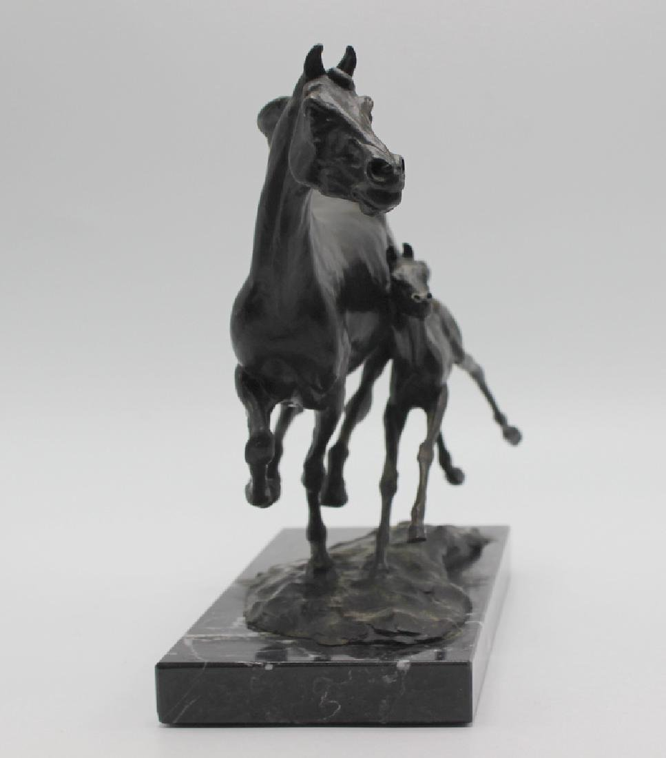 "After T.D. Kelsey ""Mother & Foal"" Bronze Restrike - 2"