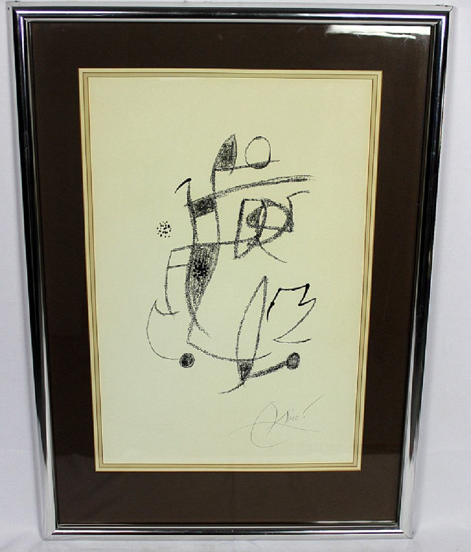 Joan Miró (1893-1983) Print on Paper Signed