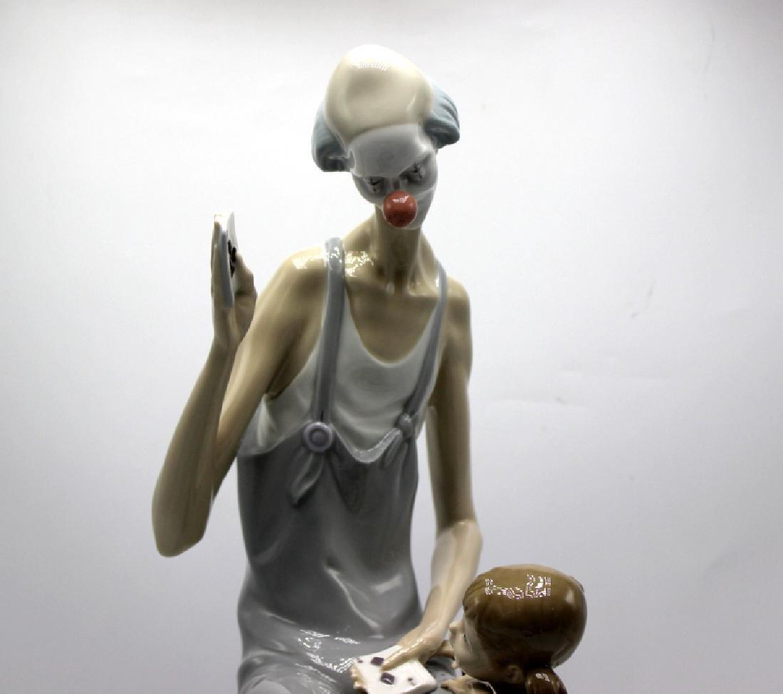 Lladro Girl & Clown #Y14 - 3