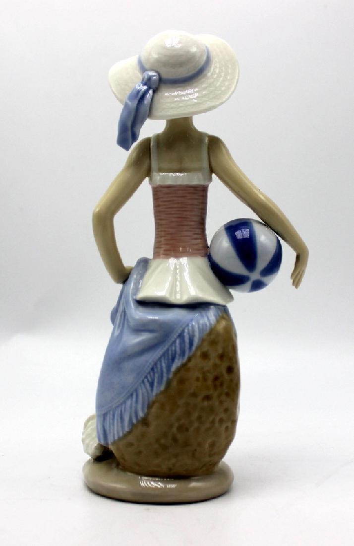 "Lladro ""Summer Girl"" Holding a Ball - 2"