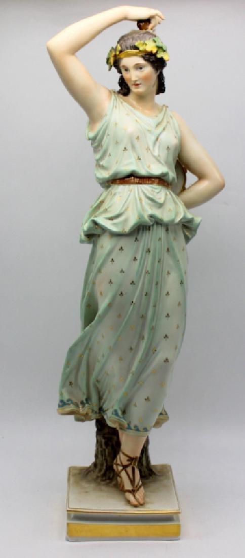 Large Meissen Porcelain Figure of a Grecian Maiden