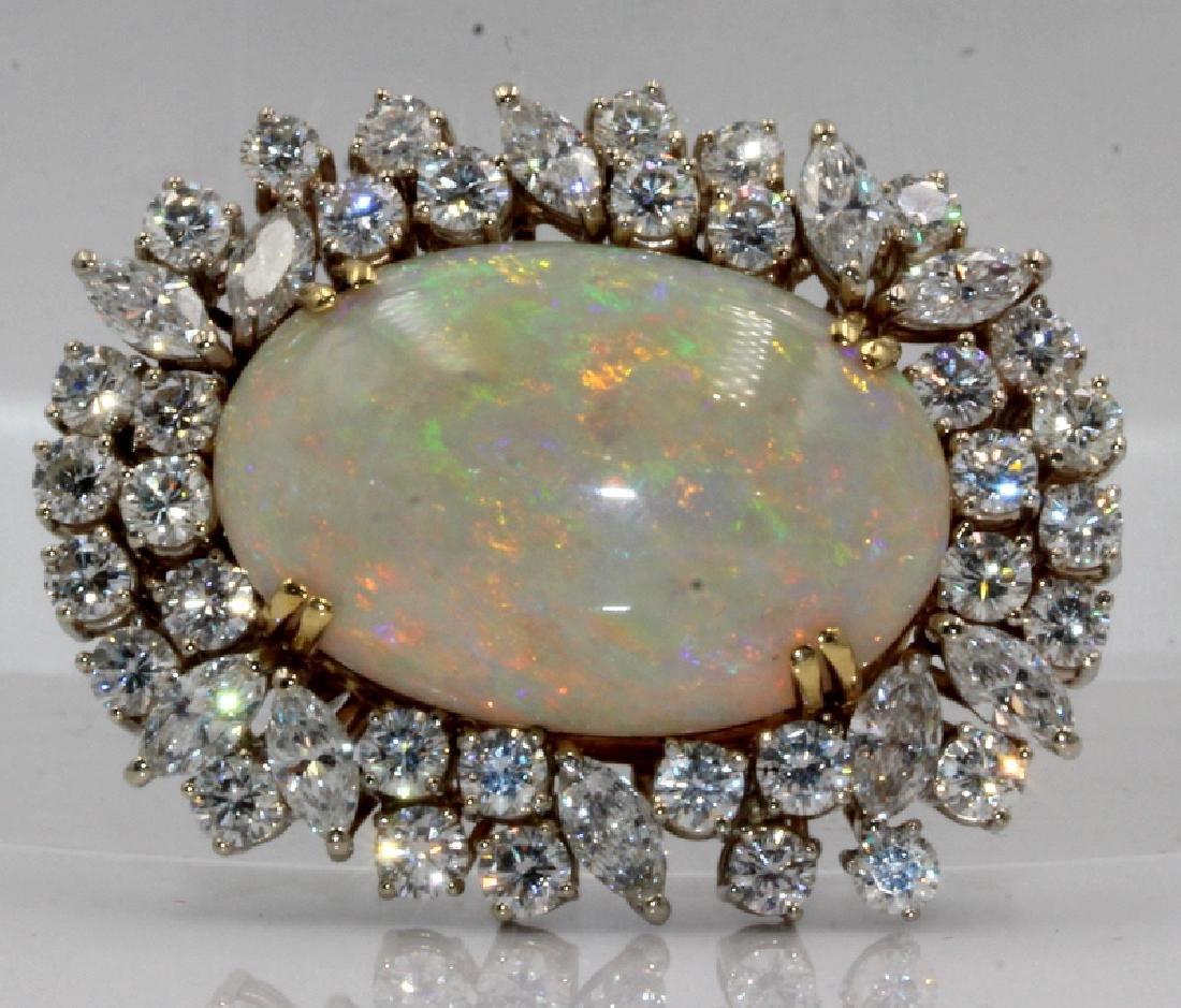 14Kt YG, Platinum, 30.00ct. Opal & 12.00ct. Diamond