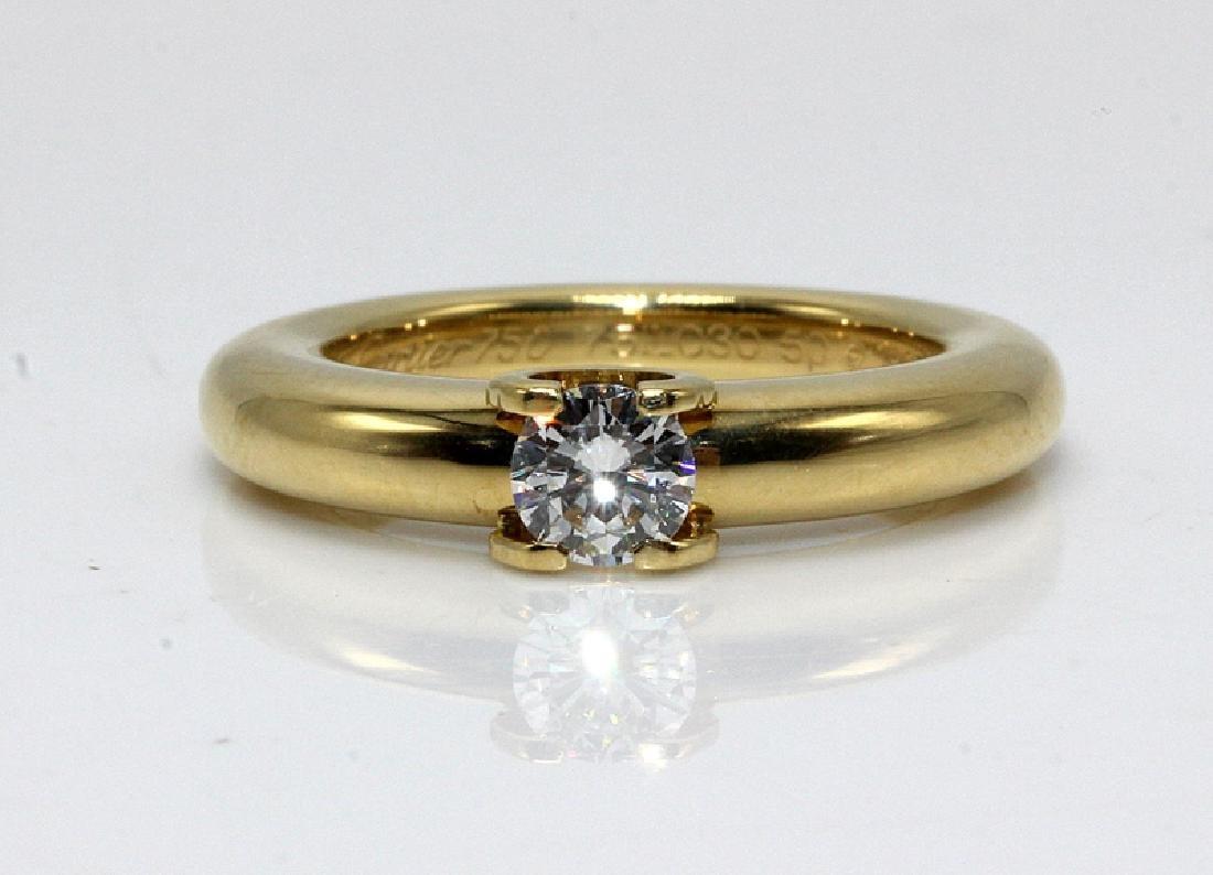 Cartier 18Kt WG Diamond Ring